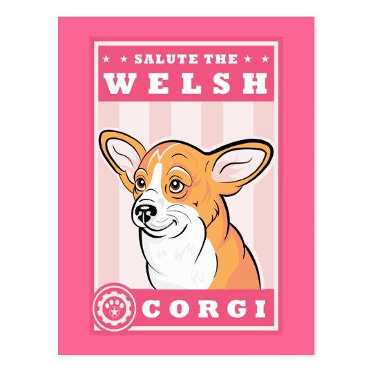 Cute Corgi Postcard