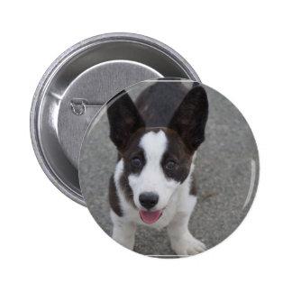 Cute Corgi Puppy Pinback Button