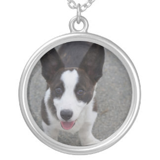 Cute Corgi Puppyh Silver Plated Necklace