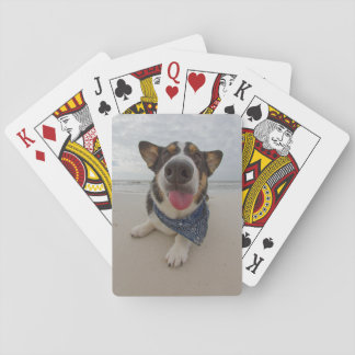 Cute Corgi with Tongue Out Playing Cards