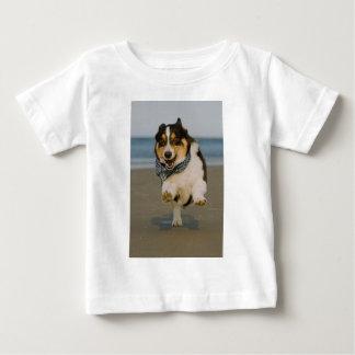 Cute Cori Running & Jumping on Beach Baby T-Shirt