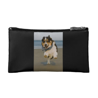 Cute Cori Running & Jumping on Beach Makeup Bag