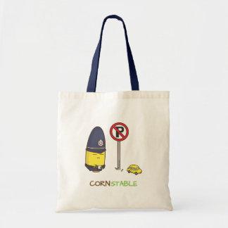 Cute Corn Constable Traffic Police Amusing Pun Canvas Bags