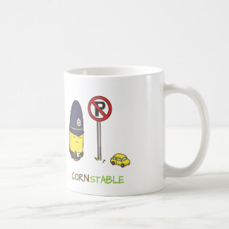 Cute Corn Constable Traffic Police Amusing Pun Coffee Mug