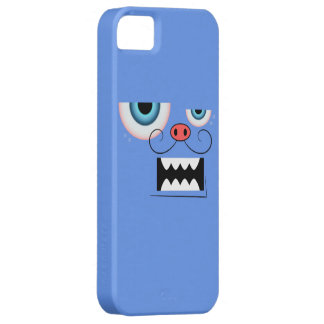 Cute Cornflower Blue Mustache Monster Emoticon iPhone 5 Cover