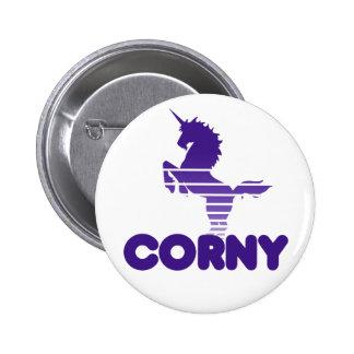 Cute Corny Unicorn Button