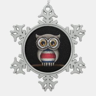 Cute Costa Rican Flag Owl Wearing Glasses Ornaments