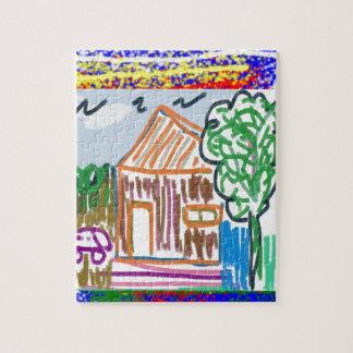 CUTE COTTAGE : Sweet Home KIDDISH Art FUN Jigsaw Puzzle