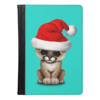 Cute Cougar Cub Wearing a Santa Hat iPad Air Case