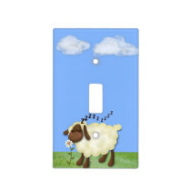"Cute ""Counting Sheep"" Light Switch Cover"