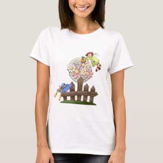 Cute Country Angel Watering Flowers T-Shirt