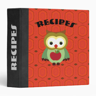 Cute Country Autumn Owls Recipe/Photo Binder
