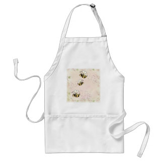 Cute Country Bees and Pink Roses Adult Apron