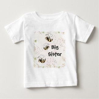 Cute Country Bees Big Sister Baby T-Shirt
