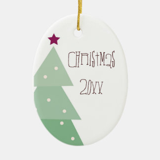 Cute & Country Christmas Double-Sided Oval Ceramic Christmas Ornament