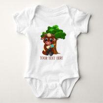 cute Country farm cow add text unisex Baby Bodysuit