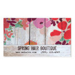 Cute Country Floral Wood Appointment Card Double-Sided Standard Business Cards (Pack Of 100)