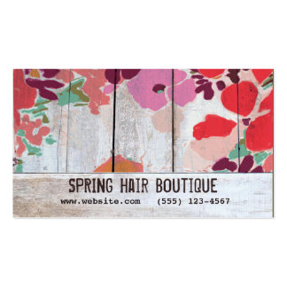 Cute Country Floral Wood Appointment Card Business Card