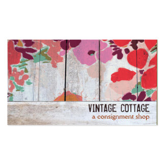 Cute Country Floral Wood Consignment Boutique Double-Sided Standard Business Cards (Pack Of 100)