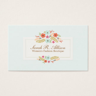 Cute Country Flowers Vintage Floral Boutique Business Card