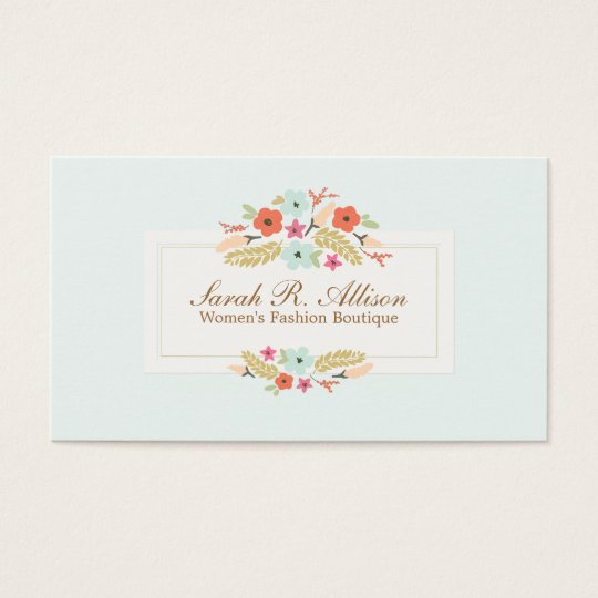 Cute country flowers vintage floral boutique business card zazzle cute country flowers vintage floral boutique business card reheart Images