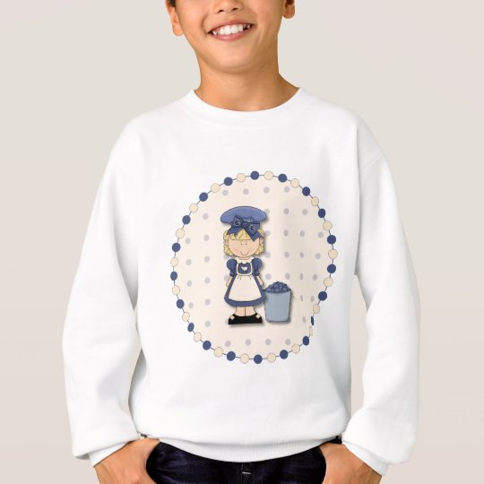 Cute country girl + bucket filled with blueberries sweatshirt