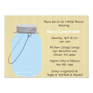 Cute Country Mason Jar Invitation