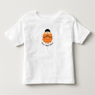 Cute Country Plaid Bright Orange Bearded Character Toddler T-shirt