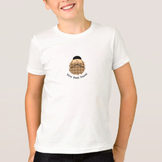 Cute Country Plaid Caramel Brown Bearded Character T-Shirt