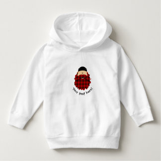 Cute Country Plaid Flannel Red Bearded Character Hoodie