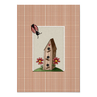 Cute Country Red Gingham Checks Baby Shower Personalized Invitations
