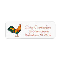 Cute Country Rooster Chicken Address Label