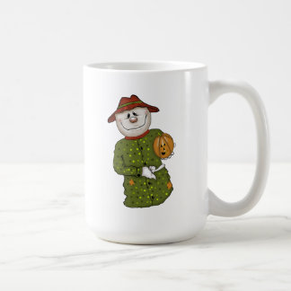 Cute Country Scarecrow Folk Art Classic White Coffee Mug