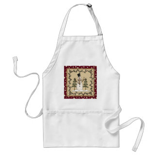 Cute Country Snowman Adult Apron