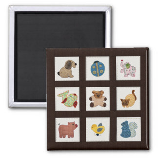 Cute Country Style Baby Animals Quilt Magnet