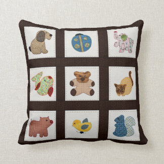 Cute Country Style Baby Animals Quilt Pillow