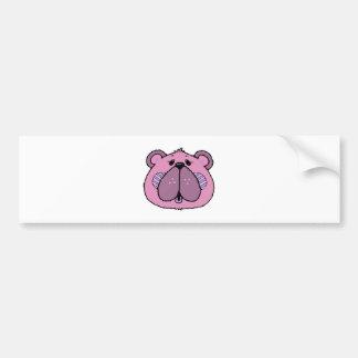 cute country style bear face car bumper sticker