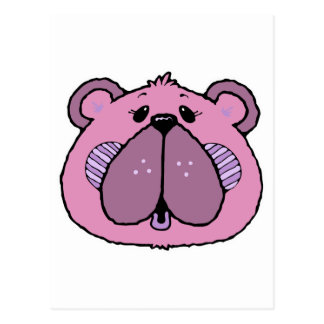 cute country style bear face postcard