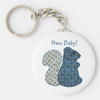 Cute Country Style Blue Squirrel New Baby Keychain