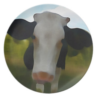 Cute Country Style Cow Plate