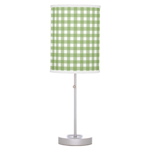 cute country style green gingham table lamp zazzle. Black Bedroom Furniture Sets. Home Design Ideas