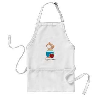 Cute Country Style Kitchen Utensils With Name Adult Apron