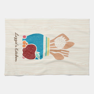 Cute Country Style Kitchen Utensils With Name Hand Towel
