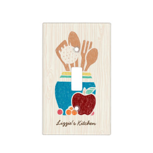 Cute Country Style Kitchen Utensils With Name Light Switch Cover