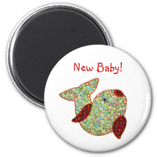 Cute Country Style Patchwork Goldfish New Baby Magnet
