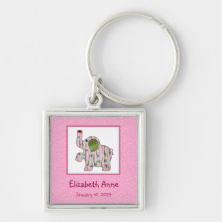 Cute Country Style Pink Elephant New Baby Keychain