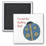 Cute Country Style Quilting Ladybug 2 Inch Square Magnet