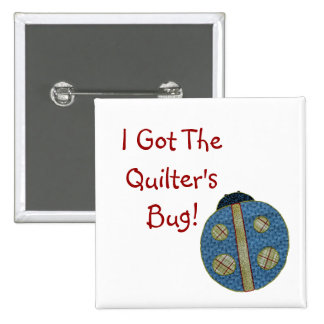 Cute Country Style Quilting Ladybug Button