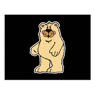cute country style tan bear postcard