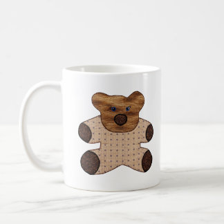 Cute Country Style Teddy Bear New Baby Mugs